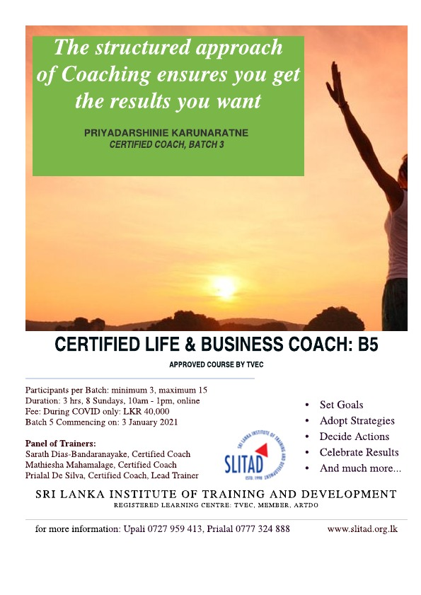 Certification Life & Business Coach