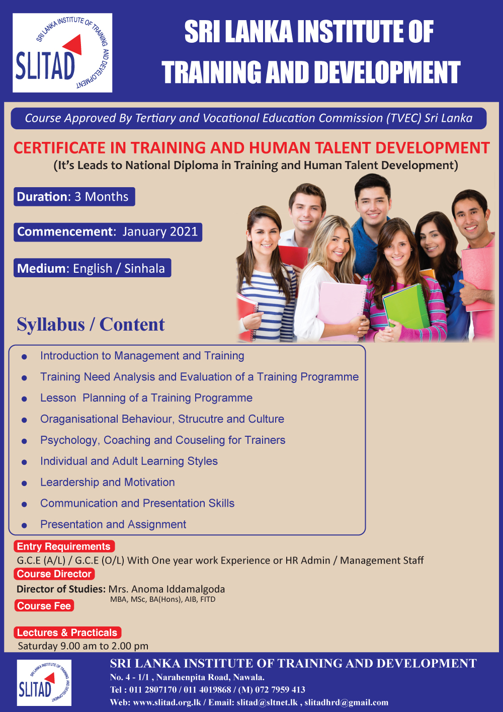 Certificate in Training and Human Talent Development