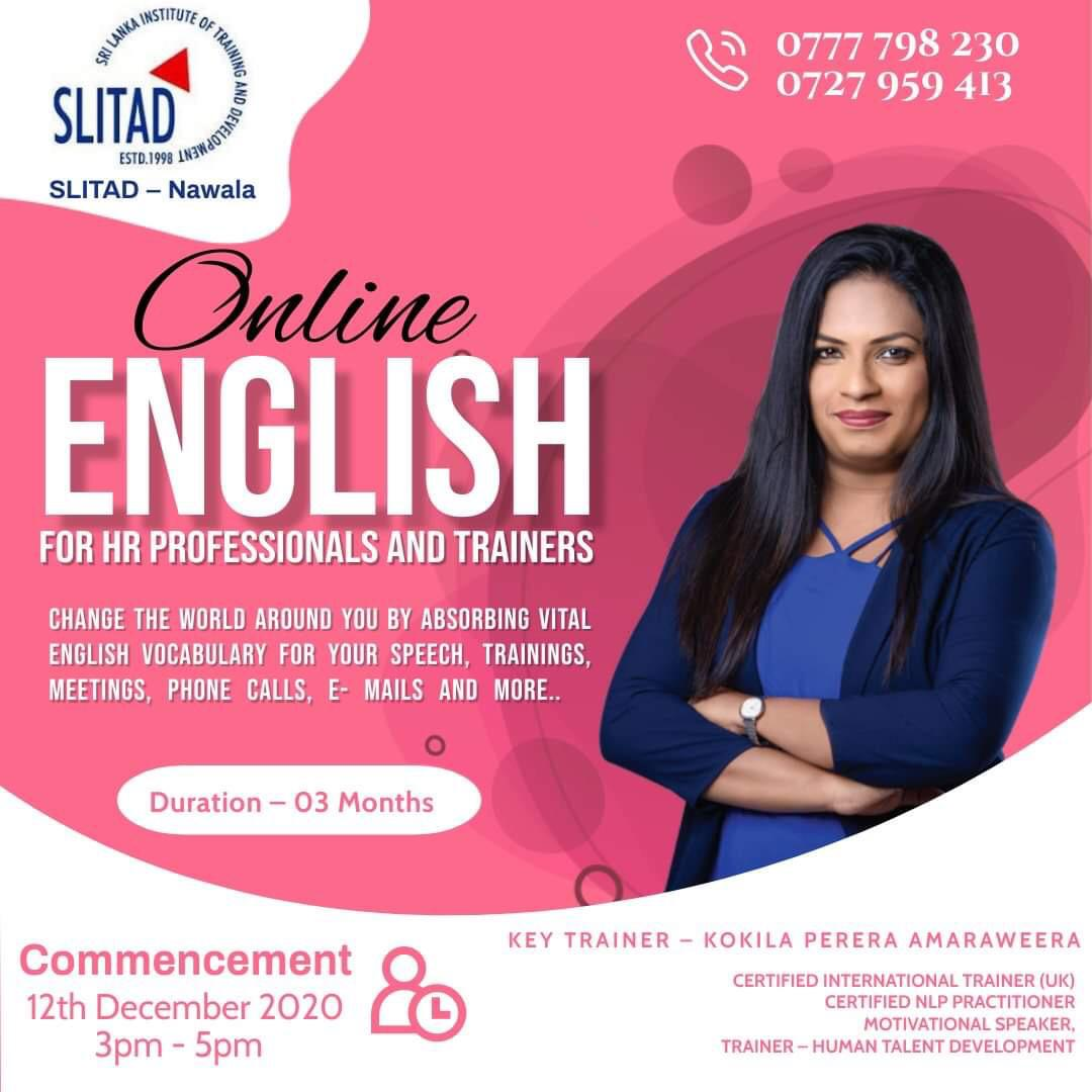 Online English for HR Professionals and Trainees.
